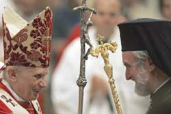 папа Бенедикт XVI и митр. Иоанн (Зизулас)