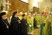 Месса в соборе св. Стефана. Вена, 26 сентября. Кардинал Шенборн шутит