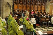 Месса в соборе св. Стефана. Вена, 26 сентября. Православные участники: о. Кирилл Говорун второй слева в последнем ряду