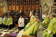 Месса в соборе св. Стефана. Вена, 26 сентября. Православные участники: еп. Ириней (Булович) крайний справа