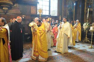 Литургия в Свято-Троицкой греческой церкви в Вене. 26 сентября