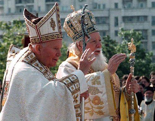Папа римский Иоанн-Павел в Румынии 1999