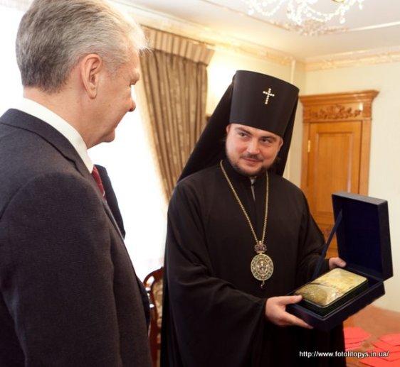 С.С. Собянин и архиеп. Александр (Драбинко)