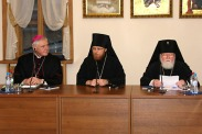 архиеп. Феофан, о. Филарет (Булеков) и католический еп. Мюллер