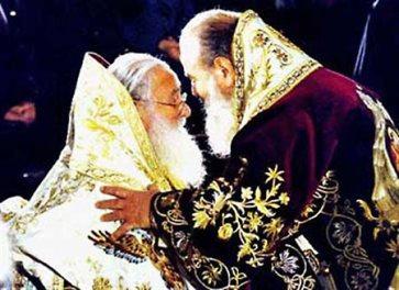 2000 г. Патриарх с архиеп. Христодулом Афинским