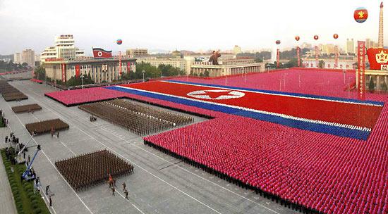 Празднование 60-летия Северной Кореи 9 сентября 2008 г. в Пхеньяне.
