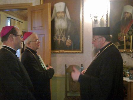 18 января в рамках католической Недели молитв «о единстве христиан» два католических епископа посетили православного митрополита Польского Савву.