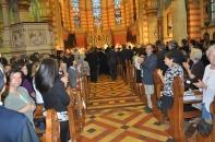 Православная делегация в католическом соборе