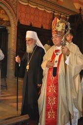Патриарх Ириней и католический кардинал Винко Пулич