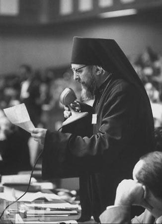 архиеп. Иоанн (Шаховской) на ассамблее Всемирного совета церквей, 1961 г. Нью-Дели