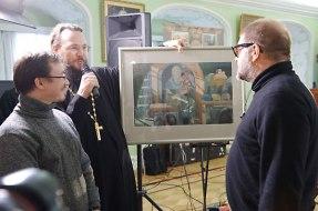 Гребенщиков в Лавре с о. Павлом Великановым
