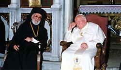 2001 г. - с папой Иоанном-Павлом II