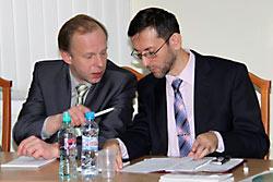 Шмидт и ректор МИУ Хайретдинов