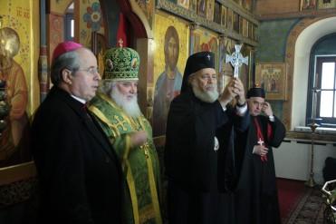 Иван Юркович, архиеп. Арсений, архиеп. Нифон и кардинал Бешара ар-Раи