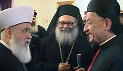 Кардинал Бешара, Патриарх Иоанн (Язиги) и муфтий Ливана Мухаммад Рашид Каббани