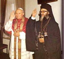 Иоанн-Павел II и Патриарх Димитрий