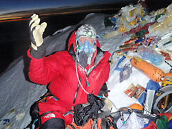 """Экспедиция """"Эверест 2012"""". О. Федор Конюхов на вершине"""
