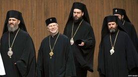 Православные гости на интронизации. Второй слева - митр. Амвросий Хельсинкский