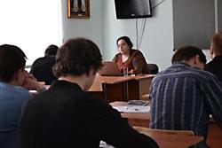 М. Сеньчукова в Якутской семинарии