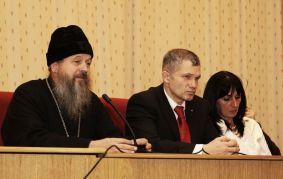 О. Александр Шестак и Игорь Трунов на учредительной конференции 19 декабря 2009 г.