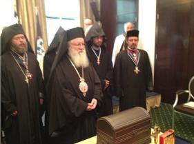 Митр. Дамаскин Велестинский на собрании греческих тамплеров.
