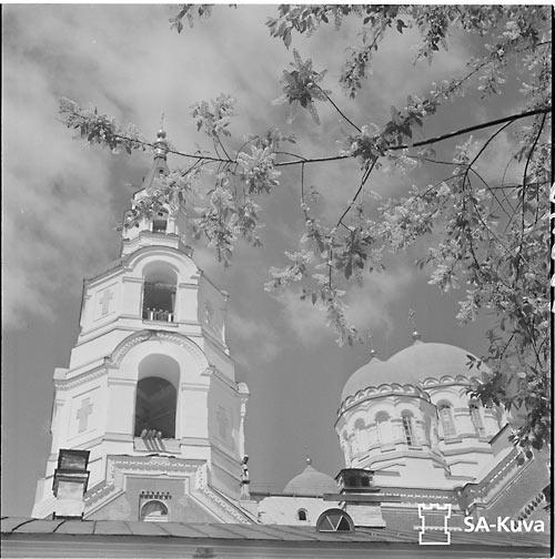 Валаамский монастырь летом. 10 июня 1942 г. Фото из только что опубликованного в интернете фотоархива  Оборонительных силы Финляндии. Среди 170 тысяч фотографий с 1939 по 1945 г. - фотографии Валаамского монастыря.