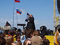 """О. Сергий (Рыбко), фестиваль """"Рок над Волгой 2010""""."""