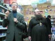 С антропософом Сергеем Дворяновым в эзотерическом магазине «Путь к себе» в 2008 г.