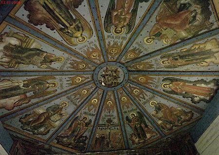 Лядины, небеса в Покровской церкви