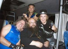 С музыкантами из рок-группы Slade. 2012 г.