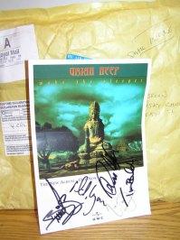 Подарок о. Сергию (Рыбко) от рок-группы Uriah Heep. 2009 г.