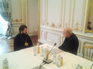 Митр. Иларион и кардинал Шенборн