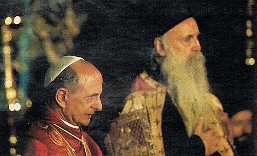 Патриарх Афинагор и папа Римский Павел VI. Источник: Ο ΣΩΤΗΡ