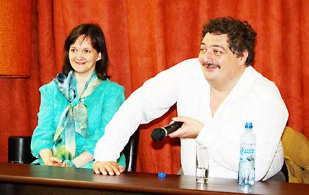 Ирина Лукьянова со своим супругом Дмитрием Быковым, тоже блюстителем общественной нравственности