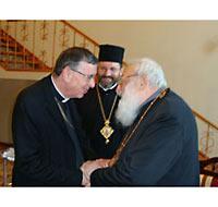 Кардинал Кох с бывшим и нынешним главой украинских униатов