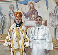 еп. Амвросий и дьякон Коваль-Зайцев
