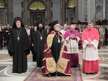Еп. Афинагор, митр. Арсений, митр. Иоанн (Зизиулас), кардинал Кох