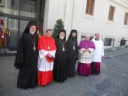 Еп. Афинагор, кардинал Кох, митр. Иоанн (Зизиулас), митр. Арсений