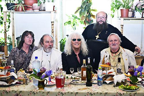 Венгерская рок-группа Omega на приходе о. Сергия (Рыбко). май 2013 г.