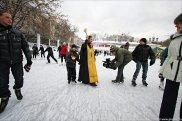 """Освящение """"православного"""" катка. Январь 2012 г."""