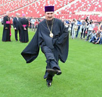 Межрелигиозная церемония открытия часовни на Евро-2012. 10 мая 2012 г., Варшава. В мероприятии участвовали католики, протестанты, православные, иудаисты и магометане.