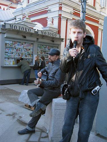 Священик Николай Кокурин и «Вальдемар Блаженный» в Климентовском переулке.