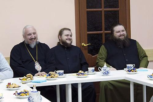 Еп. Серафим (Нещерет), о. Савва (Мажуко), о. Амвросий (Шевцов)