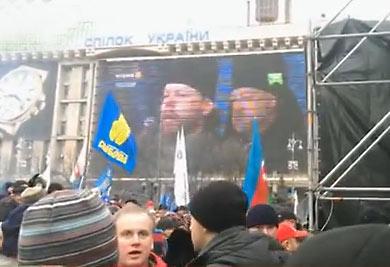 О. Георгий Коваленко на Майдане. 15 декабря 2013 г.