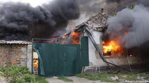 Луганск 19 июля 2014 г. Накануне футбольного матча.