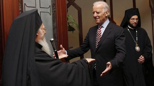 Джо Байден и Патриарх Варфоломей. 23 ноября 2014 года