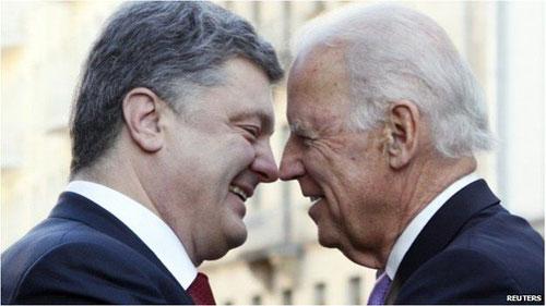 Джо Байден и Петр Порошенко. 21 ноября 2014 года