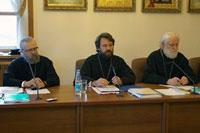 Митр. Августин, митр. Иларион и архиеп. Евгений.
