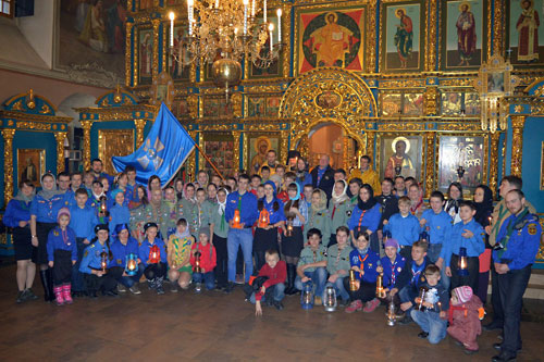 Встреча Вифлеемского огня на Крутицком подворье 21.12.2014 г.